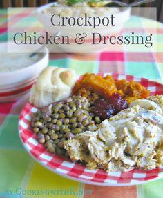 A Southern Favorite All Year Around!  Crockpot (Hen) Chicken