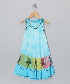 Blue Rickrack Shift Dress - Toddler & Girls
