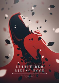 Old Story, New Ending - Seventy Two Illustration & Design ---- red riding hood, little red, disney princesses, red ride, design art, ride hood, illustr, disney characters, book cover