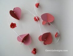 Swirly Designs by Lianne & Paul: Valentine Garland How-to