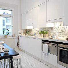 White kitchen via @Hannah Mestel Fitzpatrick