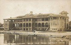 MI (New Casino, Belle Isle Park) (1908) (Designed by Albert Kahn). From Wayne County Michigan Genealogy Trails