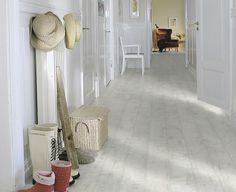 Pergo distressed white oak laminate floor