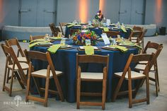 Crocker Art Museum Wedding Photos - colbolt blue and green wedding colors - Sarah Maren Photographers