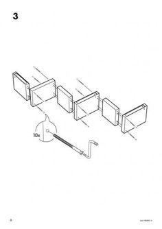 Ikea lack zigzag shelf instructions