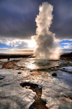 Strokkur Geyser, Iceland.