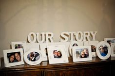 Reception Decor: 'Our Story', Name Boards, Table Numbers :  wedding decor escort card board reception silver table number white 1150