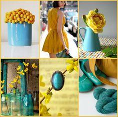 Minha vibe atual: tudo turquesa e amarelo