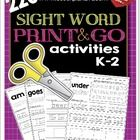 This pack uses the K-2 Dolch Sight Word list. These sheets can be used for morning work, fast finishers, center work and much more! Students color ...