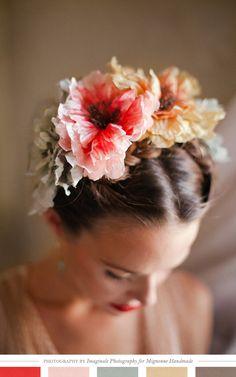 hair flowers, flower crowns, wedding hairs, painted flowers, hairstyl, flower girls, flower hair, frida kahlo, floral crowns