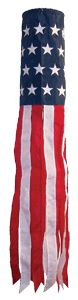 Newest design! American Flag Wind Sock, $18.00. Other designs include US Marines, US Navy, US Army, US Air Force, US Coast Guard, and POW/MIA breez 40inch, flags, toy, flag windsock, stars, american flag, embroid star, game, 40inch embroid