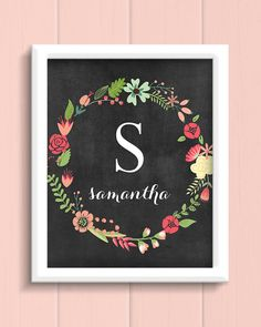 Personalized Floral Monogram Print by jpurifoy on Etsy, $14.00