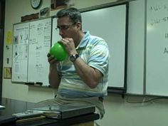 Haha this is awesome! Best teacher of the year award. Ever wonder what happens when you inhale the opposite of helium?  Inhale Sulfur Hexafluoride SF6