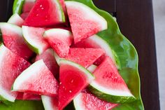 Tequlia Soaked Watermelon, then dip in coarse salt for a tasty treat!
