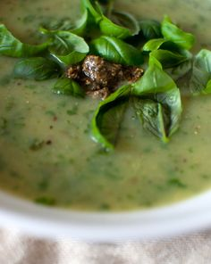 Cream of basil #soup
