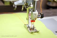 Sewing with a double needle