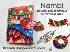 PDF polymer clay tutorial  Nambi technique  by ArtStudioKatherine, $18.50