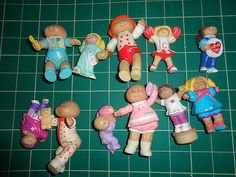 Vintage Cabbage Patch 1980's toy figurine lot of 11 toys. For this and more visit me at www.dandeepop.com