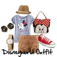 """Disney Outfit"" by chanellfriedman on Polyvore just in case we ever go casual fashion, disney outfits, chanellfriedman, outfits for disney world, style, disney trip, polyvore, disney vacat, causal fashion"
