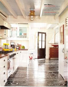 Painted floors!  Want that!