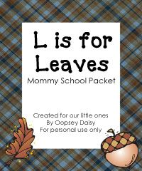 Leaf theme unit mommi school, toddler learning activities, toddler snacks for school, letter activities toddler, leav, preschool units