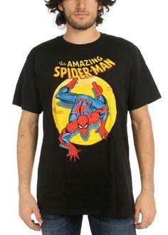 The Amazing Spider-Man Spotlight Adult T-shirt - List price: $28.00 Price: $14.76 Saving: $13.24 (47%)