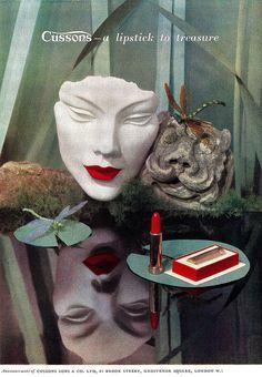 Cussons Lipstick ad, 1948