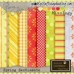 Spring Sentiments Pattern Paper Pack