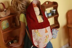 doll carrier, birthdays, waldorf dolls, growing up, crafti sew, baby carriers, children, kids, babi carrier
