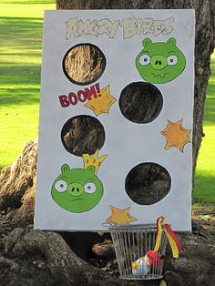 Angry Bird Game- I need to do this for my students here in Thailand. they are OBSESSED with angry birds!