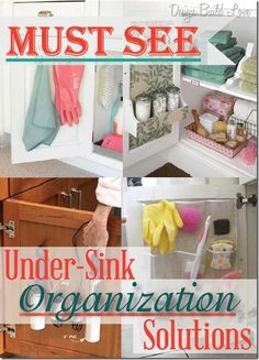 Under-Sink Organization Solutions @ My-House-My-HomeMy-House-My-Home