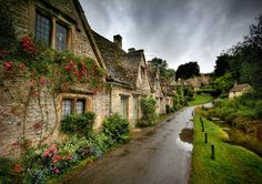 Arlington Row in the Heart of the Cotswolds, England