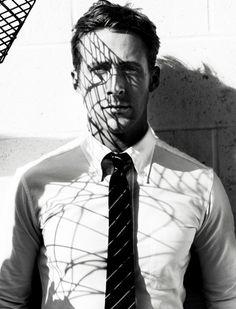 ryan gosling, mario testino, dress shirts, shadow, men outfits