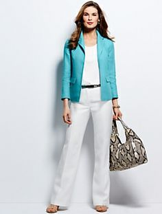 Talbots - Linen No-Close Jacket