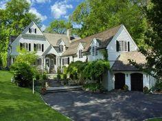 pretti hous, modern house design, white houses, design homes, house exteriors