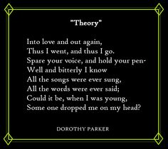 "an examination of the poem one perfect rose by dorothy parker Dorothy parker resume analysis research paper academic service  of books,  filled with poems in ""resume"" and ""one perfect rose"" parker recalls personal."