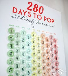 Ready to POP - Pregnancy Countdown Calendar