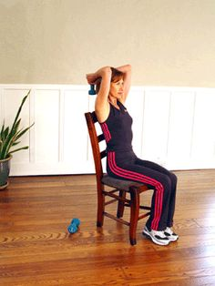 Today's Exercise: Seated Dumbbell Triceps Extensions