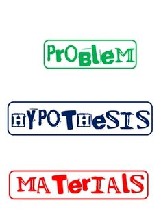 FREE science fair labels for project display board