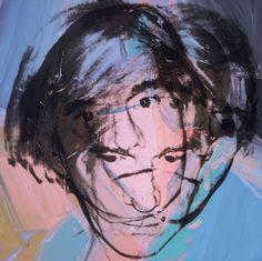 visual arts, portrait art, self portraits, acrylics, andi warhol, foundation, andywarhol, the artist, andy warhol