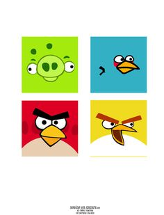lots of angry bird ideas and free printables