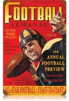 Football Vintage Sports sign
