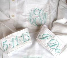 Bride's Shirt  Monogrammed Button Down by PrettyPersonalGifts, $40.00