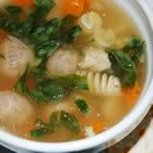 Mama's Italian Wedding Soup Recipe    This is very yummy. It has a bit of spinach, a few carrots, a bit of pasta, and of course meatballs. It's definitely on our favorite list.