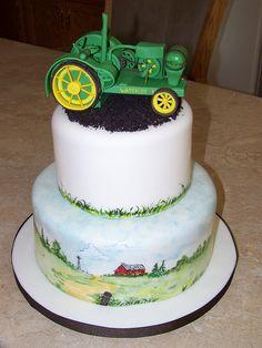 1924 John Deere Waterloo Boy Tractor Cake