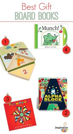 Give a board book! The Best Books for Kids Gift Guide via Imagination Soup.