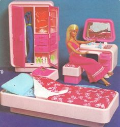 barbie's bedroom - I still have the armoire!!