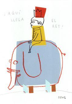 Illustration.- Isol Aqui Llega El Rey-Here comes the King