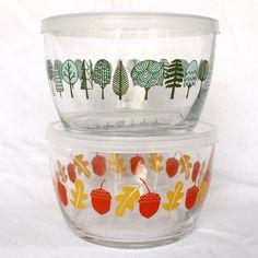 Squirrel It Away Glass Storage Bowls. $28.00, 1CANOE2 via Etsy.