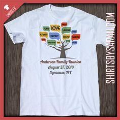 Word Tree Family Reunion Shirt : Custom Family Reunion Shirts - Shirts By Sarah - Custom Printed T-shirts